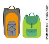 sport style and women backpack  ... | Shutterstock . vector #678094804