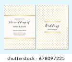 wedding invitation  thank you... | Shutterstock .eps vector #678097225