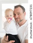 portrait of happy father and... | Shutterstock . vector #678097231