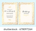 wedding invitation  thank you... | Shutterstock .eps vector #678097264