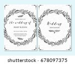 wedding invitation  thank you... | Shutterstock .eps vector #678097375