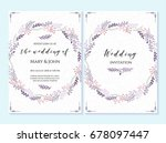wedding invitation  thank you... | Shutterstock .eps vector #678097447