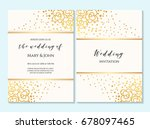 wedding invitation  thank you... | Shutterstock .eps vector #678097465