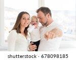 portrait of happy family of... | Shutterstock . vector #678098185