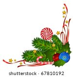 christmas decoration with candy ... | Shutterstock .eps vector #67810192