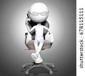 3d businessman talking on his... | Shutterstock . vector #678115111