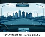 bangalore skyline | Shutterstock .eps vector #678115159