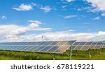 panels of the solar energy... | Shutterstock . vector #678119221