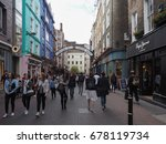 london  uk   circa june 2017 ... | Shutterstock . vector #678119734