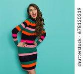 beautiful young woman in...   Shutterstock . vector #678120319