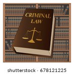 criminal law is an illustration ... | Shutterstock .eps vector #678121225