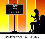 january calendar   Shutterstock .eps vector #67812337