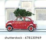 3d rendering. woman driving... | Shutterstock . vector #678130969