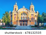 Small photo of CLUJ NAPOCA, ROMANIA - June 13, 2016: Lucian Blaga National Theatre in Cluj is one of the most prestigious theatrical institutions in Romania and shares the same building with the Romanian Opera.
