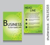 vector brochure flyer design... | Shutterstock .eps vector #678135205