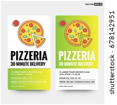 pizzeria 30 minute delivery... | Shutterstock .eps vector #678142951