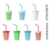 collections plastic fastfood... | Shutterstock .eps vector #678143875