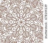 pattern vector flower mandala.... | Shutterstock .eps vector #678144139