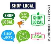 shop local. badge  icon  logo... | Shutterstock .eps vector #678149215