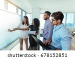 women entrepreneurs discussing... | Shutterstock . vector #678152851