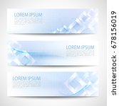 abstract banner blue square... | Shutterstock .eps vector #678156019