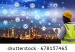 industry 4.0 concept... | Shutterstock . vector #678157465