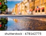 sunny day after rain in the... | Shutterstock . vector #678162775