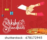 illustration greeting card of... | Shutterstock .eps vector #678172945