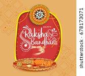 illustration greeting card of... | Shutterstock .eps vector #678173071