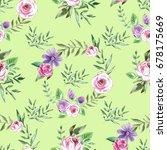decorative seamless pattern... | Shutterstock . vector #678175669
