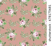 decorative seamless pattern... | Shutterstock . vector #678175681