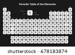 periodic table of the elements... | Shutterstock .eps vector #678183874