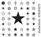 stars icons on white background ... | Shutterstock .eps vector #678194275