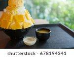 mango bingsu  fresh mango with... | Shutterstock . vector #678194341