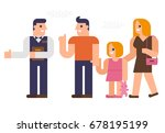 people are dinner at a ... | Shutterstock .eps vector #678195199