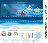 swimming competition... | Shutterstock .eps vector #678195205