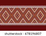 geometric ethnic pattern... | Shutterstock .eps vector #678196807