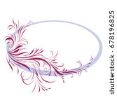 oval frame with ornament. vector | Shutterstock .eps vector #678196825