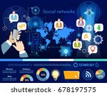 social network infographic.... | Shutterstock .eps vector #678197575
