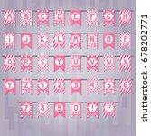 set of cartoon flag garlands... | Shutterstock .eps vector #678202771