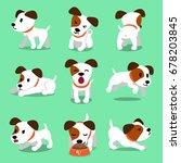 cartoon character jack russell... | Shutterstock .eps vector #678203845