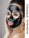 beauty skin care mask. portrait ... | Shutterstock . vector #678204211