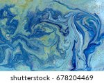 marbled blue and golden... | Shutterstock . vector #678204469
