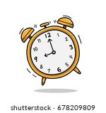 ringing analog alarm clock  a... | Shutterstock .eps vector #678209809
