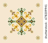 ethnic design with traditional... | Shutterstock .eps vector #678209941