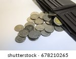 coins out of pocket saving money | Shutterstock . vector #678210265