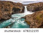 View Of Aldeyjarfoss Waterfall...
