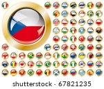 Постер, плакат: Shiny button flags with