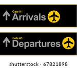 arrival and departures airport... | Shutterstock .eps vector #67821898