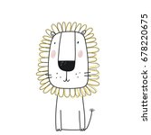 cute lion print | Shutterstock .eps vector #678220675